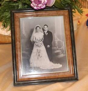 Grandparents' wedding picture
