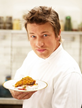 Jamie Oliver, not only because he can cook, but he's FUN too
