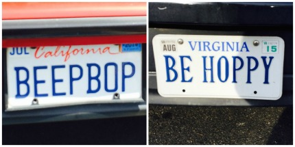 be hoppy license plate