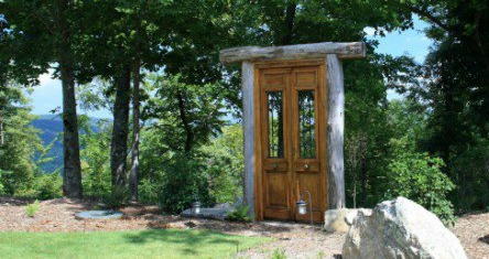 magical outdoor door