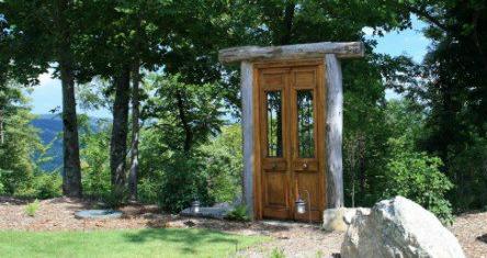 magical outdoor door