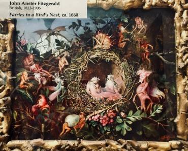 Fairies in a birds nest